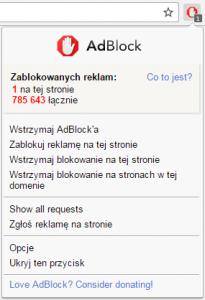 adblock opcje