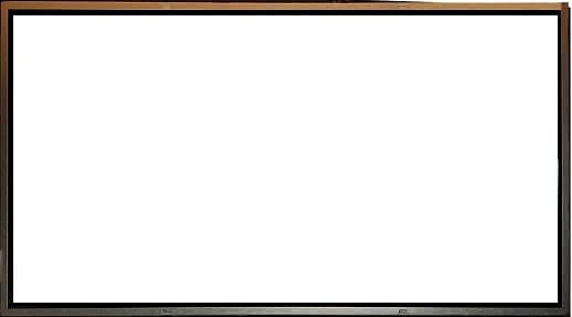 biały ekran
