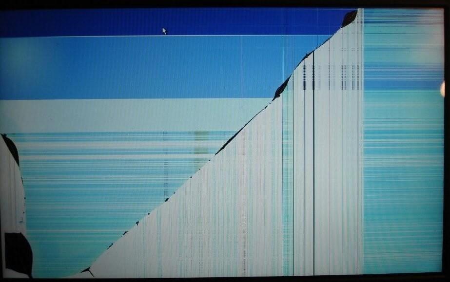 zbity ekran laptopa